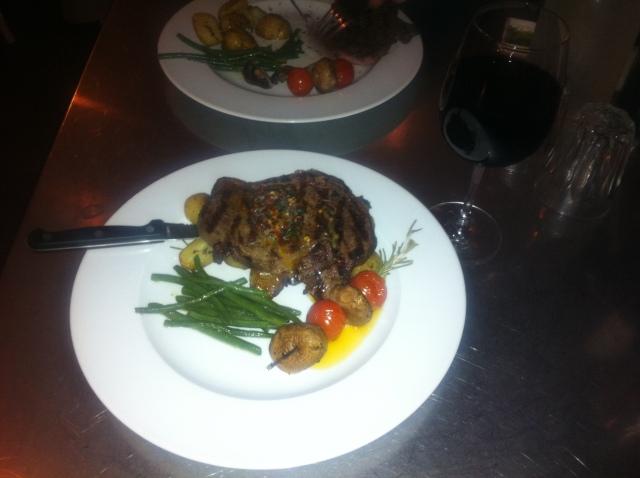 Rob Rattray Rib-eye Steak, Baravin