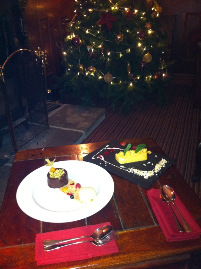 Chocolate Marqis & Apple Bavarois