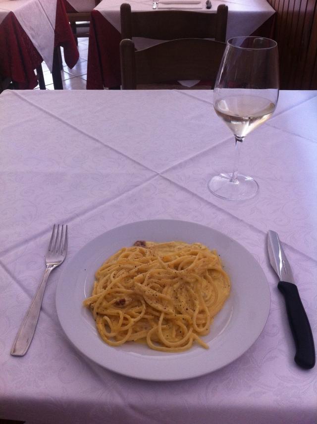 Spaghetti Carbonara, Le Pizzeria Stella