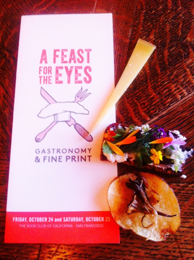 A Feast For The Eyes : Gastronomy and Fine Print
