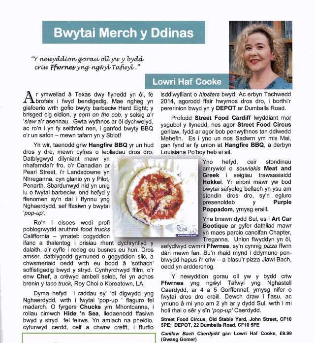 Y Dinesydd Bwytai Merch y Ddinas Mehefin 2015
