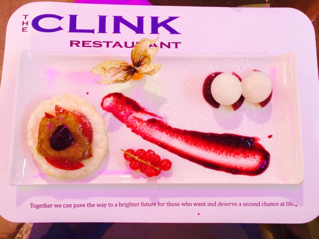 The Clink Plum and Rhubarb Tart