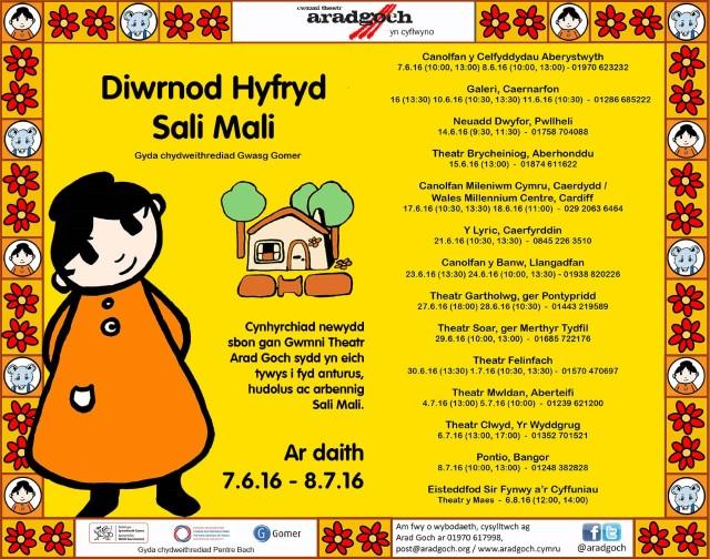 E-Flyer Diwrnod Hyfryd Sali Mali